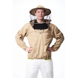 Biškopja jaka ar apaļu sejassargu, bez rāvējslēdzēja, S-XXXL