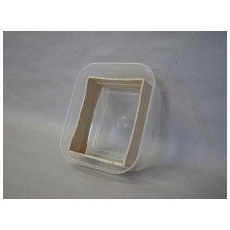 Kārba plastmasas, sekciju rāmītim